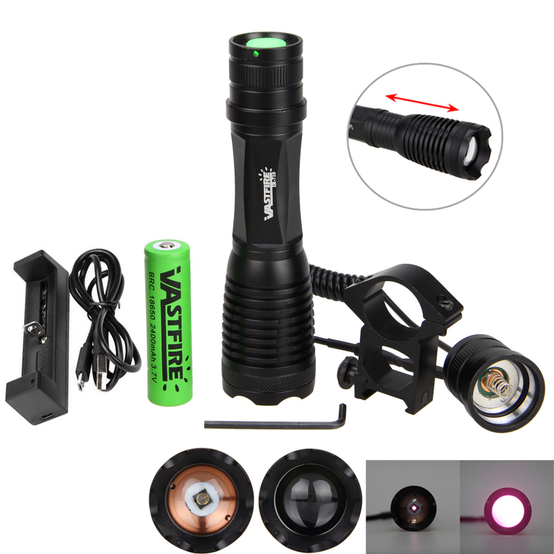 Zoomable Focus 10 W 940 Nm LED Infrared Radiation IR Lamp Night Vision Flashlight Used With Night Vision Device 18650 Battery