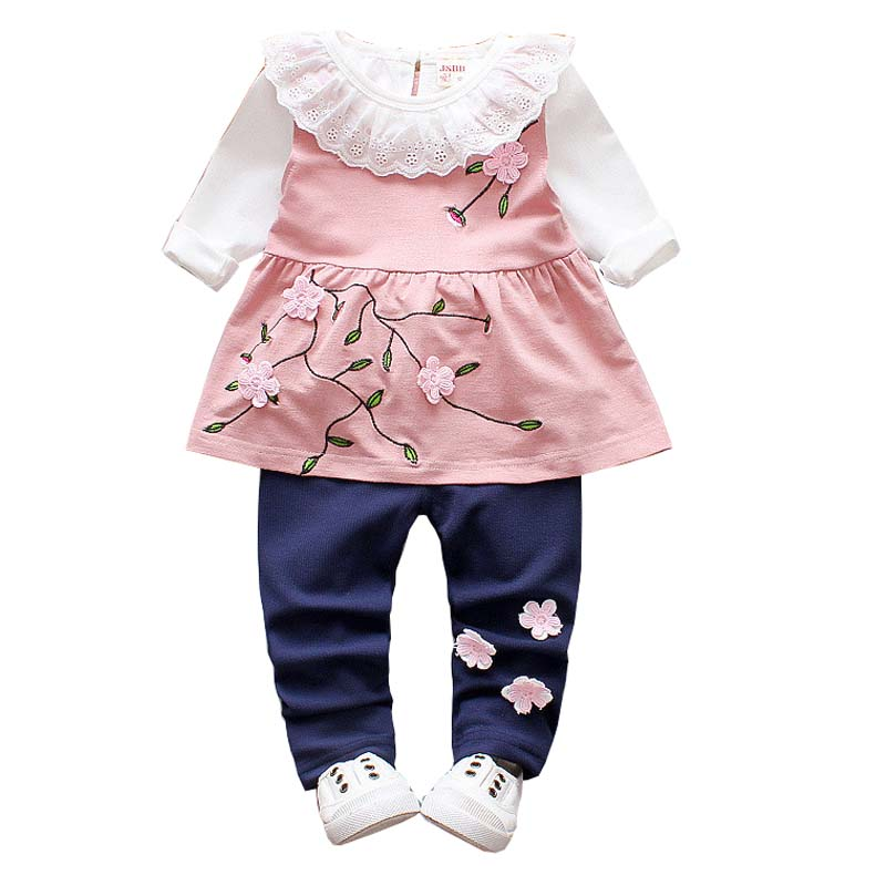 BibiCola Girls Clothing Sets 3pcs Sets Children Girls Princess Clothes Costume Spring Autumn Girls Clothes Suit for Baby Clothes keaiyouhuo 2017 autumn boys girls clothes sets batman sport suit children clothing girls sets costume for kids baby boy clothes page 8