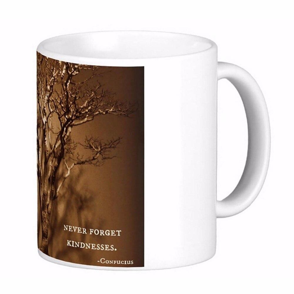 Bonsai Confucius <font><b>Kindness</b></font> Quote White Coffee mugs Tea Mug Customize Gift By LVSURE Ceramic <font><b>Cup</b></font> Mug Travel Coffee Mugs