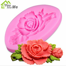 DIY 3D Beatiulty Flower Silicone Fondant Mold Sugar Craft Cake Decorating Embossing Mold Bakery Baking Tools new diy cake decorating mold double leaf veiner silicone cake mold sugar art mold fondant mold fondant cake decorating tools