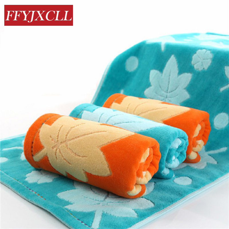 4pcs Maple Printed  Quick-Dry  towel 100% Cotton bath beach face towel sets for adults bathroom 34cm*75cm gift
