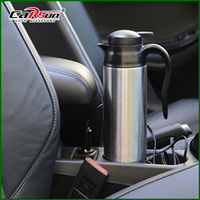Car Cup 750ML Stainless Steel 12V Car Heated Travel Mug Thermos Heating Cup Kettle Car Coffee Cup Auto Adapter