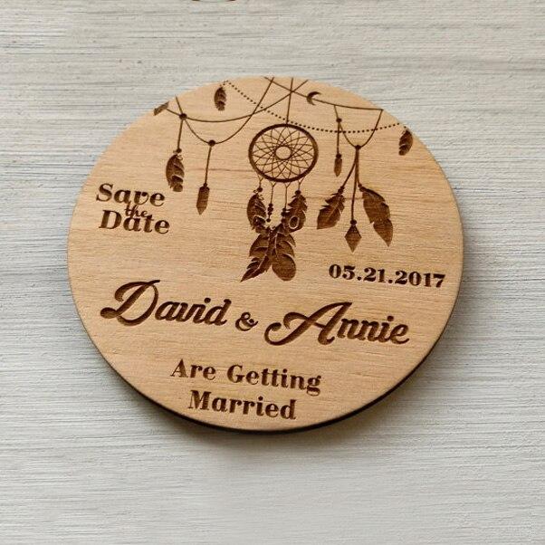 562be6cee13 Favores do Partido Anúncio de Casamento Ímã do Convite Save The Date ...