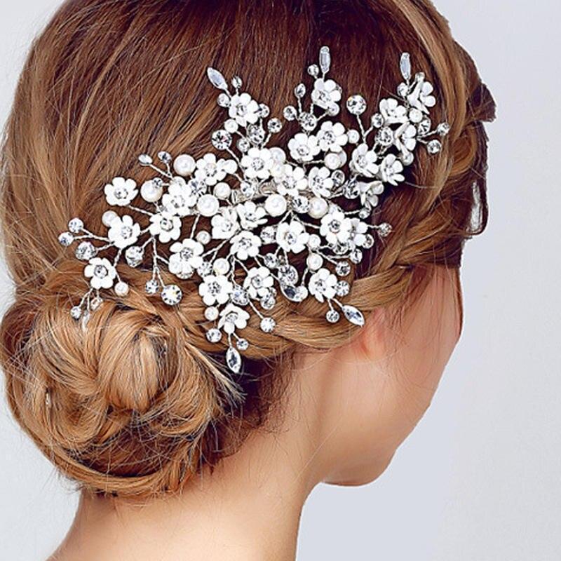 Women's Hair Accessories Btlige 2019 Fashion Korean Silk Yarn Flowers Bride Headdress Hair Accessories Wedding Dress Accessories Hair Acessoires