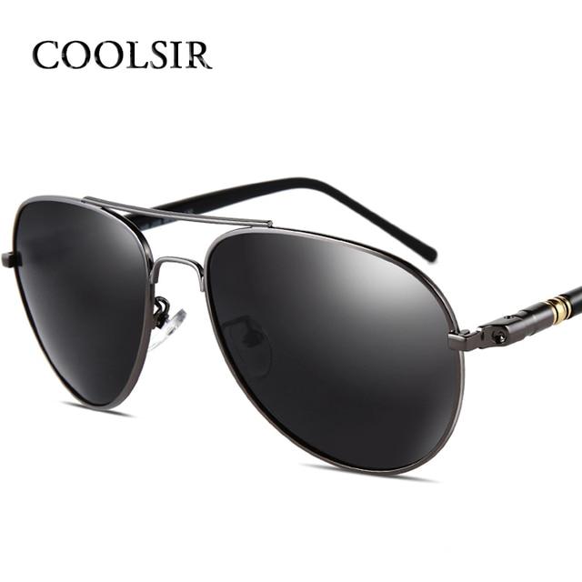 a84083ae4923 COOLSIR 2017 New Brand Designer Alloy Frame Polarized Sunglasses Men UV400  Driving Glasses Goggles Eyeglasses 209