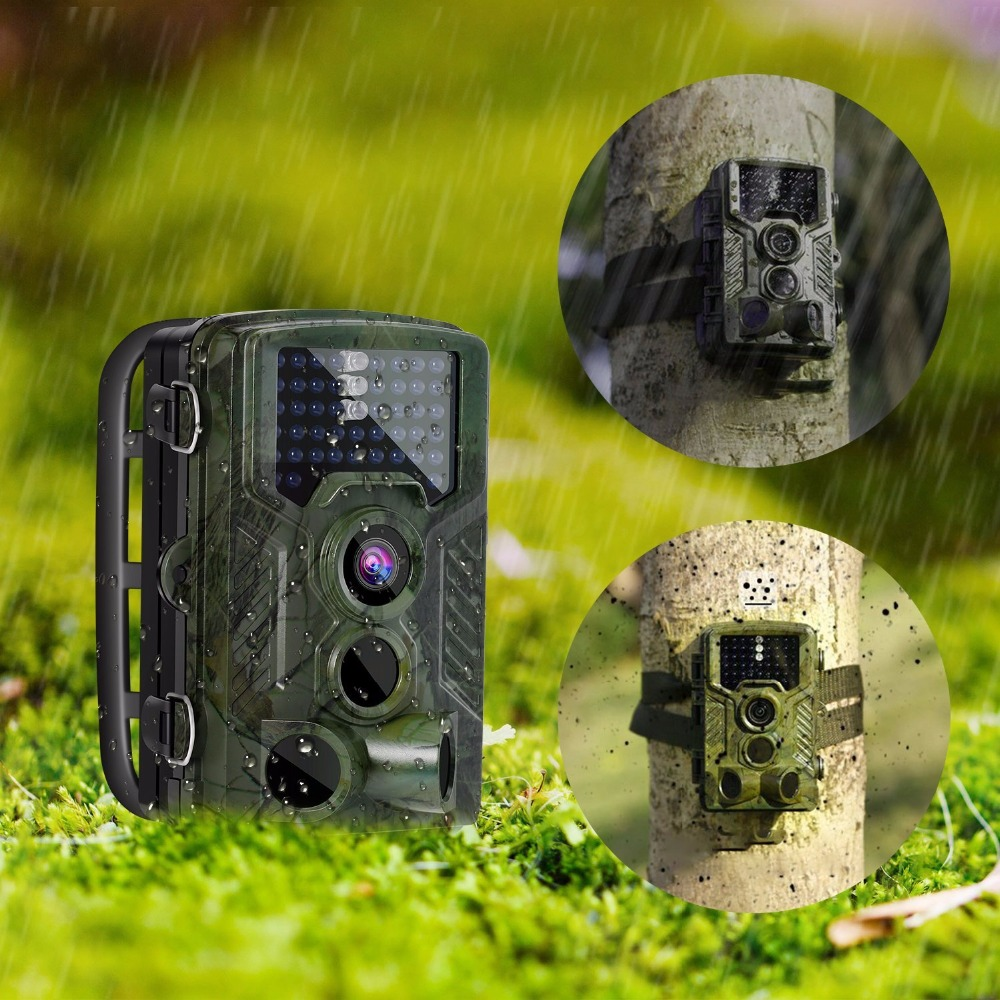 Wildlife Camera 16MP Photo Traps 0.2S Trigger Motion Detection Trail Camera 1080P Video Outdoor Hidden Surveillance Camera