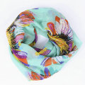 Guttavalli New Female Dot Ring Shawl Fashion Women Colorful Flower Silk Infinity Scarves Nice Chevron Plaid Chevron Loop Scarf
