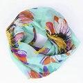 Guttavalli Nueva Colorida de Las Mujeres de Punto Chal Anillo de Moda Femenina Flor de Seda Infinito Loop Bufanda Chevron Chevron Plaid Bufandas Niza