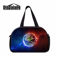 Dispalang men luggage bag travel bag for Family weekend out trendy shoulder duffel bag print galaxy pattern on portfolio for boy
