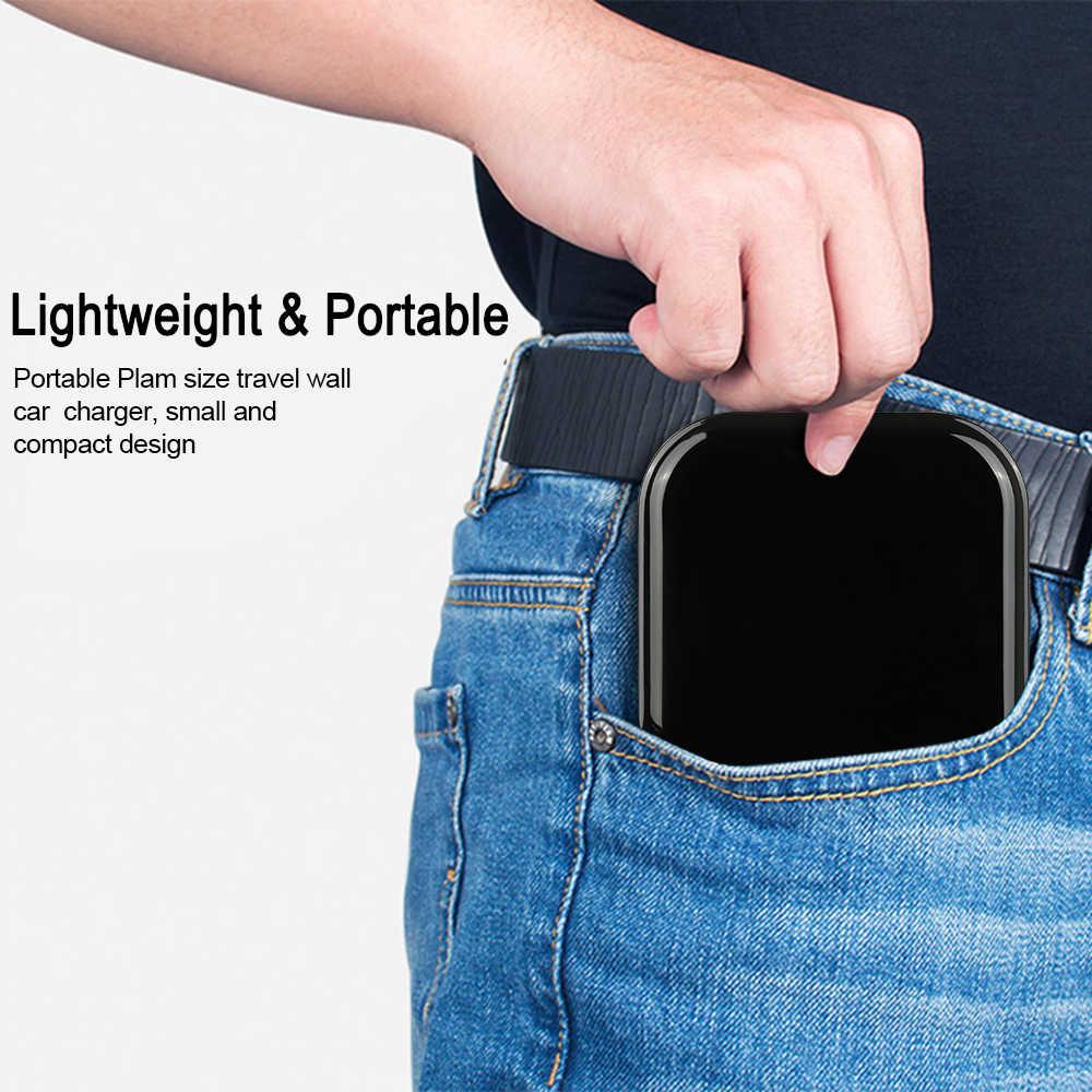 Cargador rápido doble USB para coche Xiaomi 9 redmi k20 Pro para iPhone X XR iPad Mini para Samsung S10 9 8 7 6 teléfono pared cargador de viaje