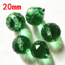 China Balls 20mm Dark Green 195pcs Pendant Charms Fit Crystal Pendant Lights Charms Crystal Chandelier Ballss Free Shipping(China)