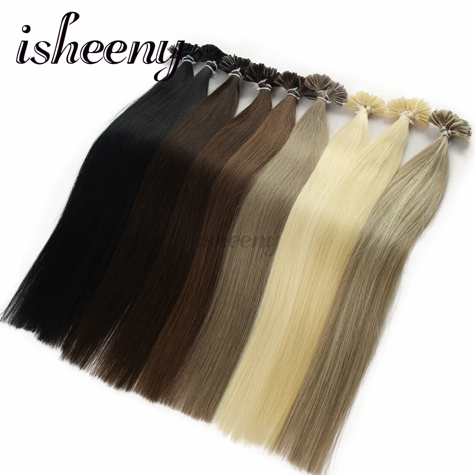 Alishow 50g Remy Human Hair Nail U Tip Hair Extensions Straight Pre Bonded  Hair On Keratin. US  40.70. (12). 14 orders. Isheeny 14
