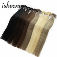 Isheeny 14 18 20 22 Fusion Hair Extensions 0.6g 0.8g 1g Remy Nail/U Tip Straight Keratin Pre Bonding Human Hair On Capsuel
