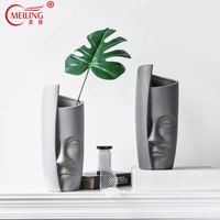 Creative Head Vase Decoration Home Personalized Ceramic Vases Filler For Flowers Office Table Living Room Accessories Large Vase