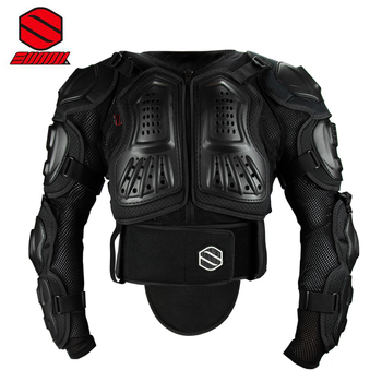 SUNNY S1090 Black Motorcycle Armor Sport Body Protector Motorcross MX Armor bicycle DH Spine Chest Protective Jacket Gear Guards