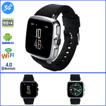 Z01 Android Smart Watch RAM 512 ROM 4 GB Heart Rate Wrist Watch 3G Sim GPS WIFI Bluetooth Smartwatch for Android Ios pk Finow Q1