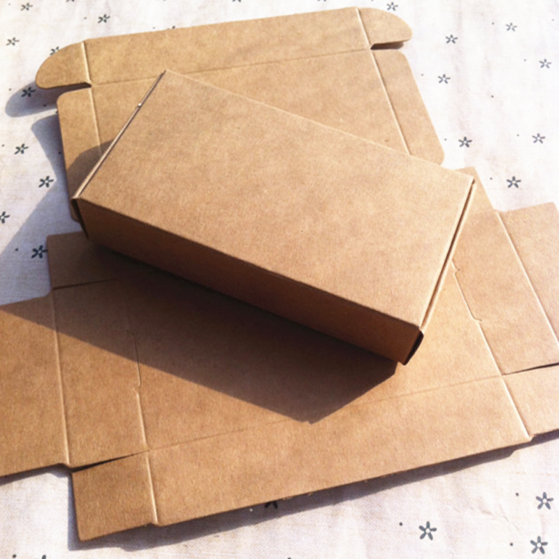 High Quantity 20Pcs 11x6x2.2cm Kraft Gift Boxes Blank Paper Box Jewelry  Necklace Boxes Cardboard Display Gift Boxes Paper H2095