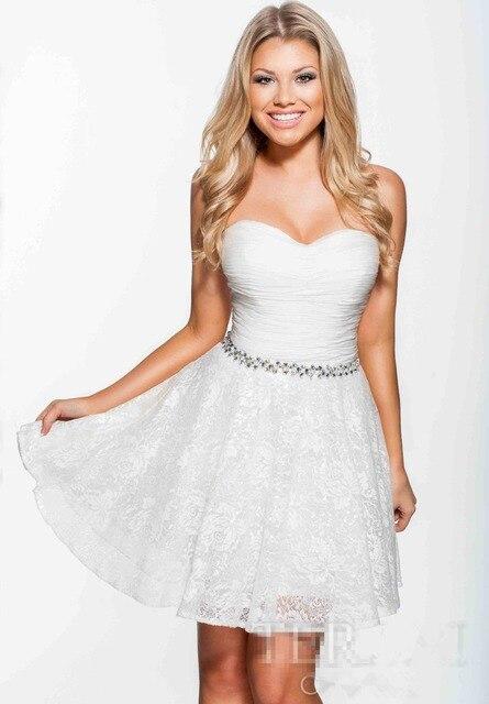Simple Sweetheart Neckline Rhinestone Sashes A line Princess Style ...