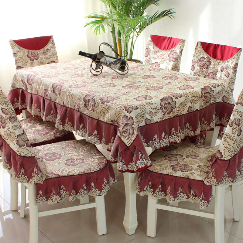 Dining Room Table Chair Covers: Fashion Top Grade Dining Table Cloth Chair Covers Cushion