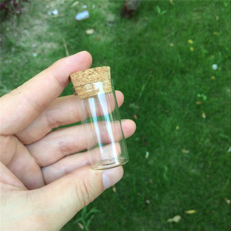 Glass Jars Test Tube Bottles With Cork Stopper Transparent Clear Vials Packaging Bottles4