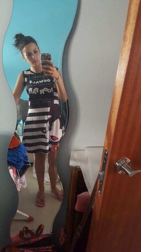 women Mickey Cartoon print vest Sexy Ladies dress summer 2019 Sleeveless print Beach Party woman Dresses Home pajamas Plus Size 5