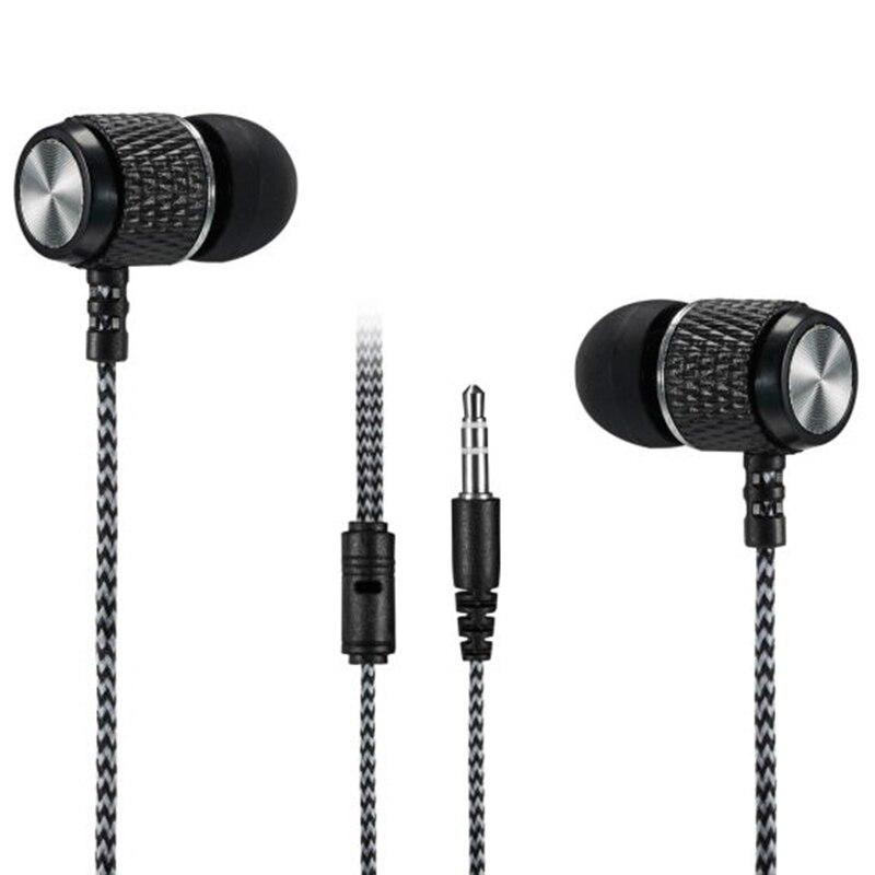 Nylon Cord Braided Wiring Earphones Steel Magnetic 6U Speaker in-ear Earbuds Noise Cancelling Hifi Headset IPX5 Waterproof Sport