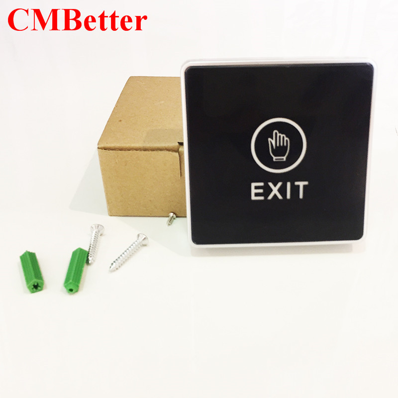 CMBetter Infrared Switch Contactless Bule Backlight Touch Exit Button Door Touch Release Switch for Access Control diysecur infrared contactless bule backlight touch exit button door release switch for access control free shipping