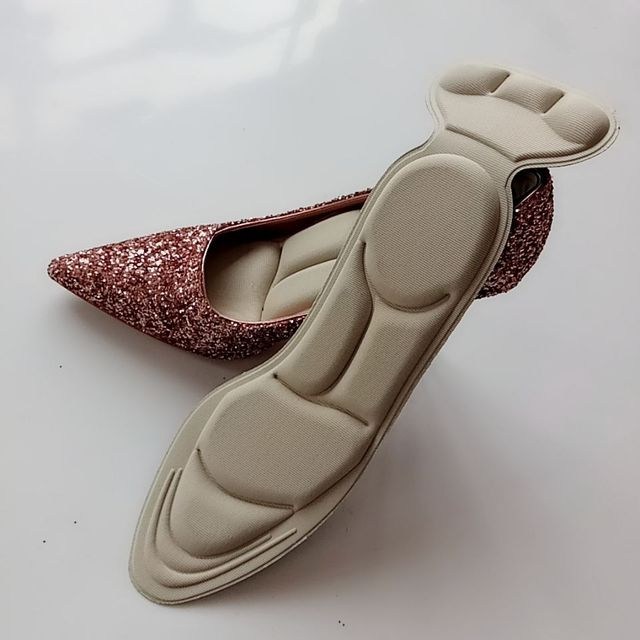 2pcs/lot New Arrival 7D Arch Support Orthotic Massage High Heels Sponge Anti Pain Shoe Insoles Cushions Insert