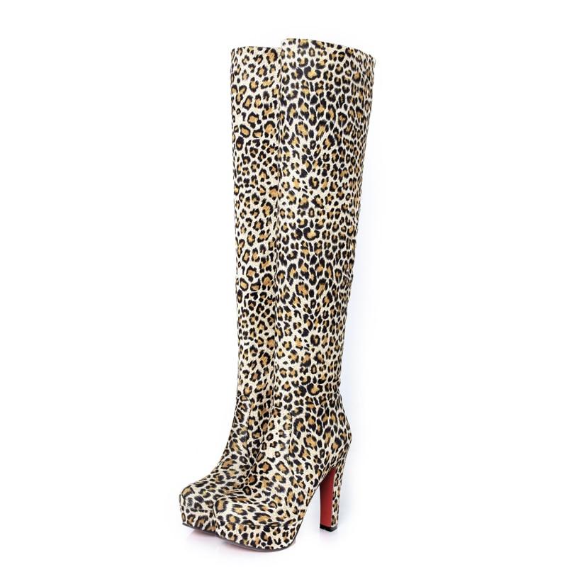 Online Get Cheap Leopard Print Thigh High Boots -Aliexpress.com ...