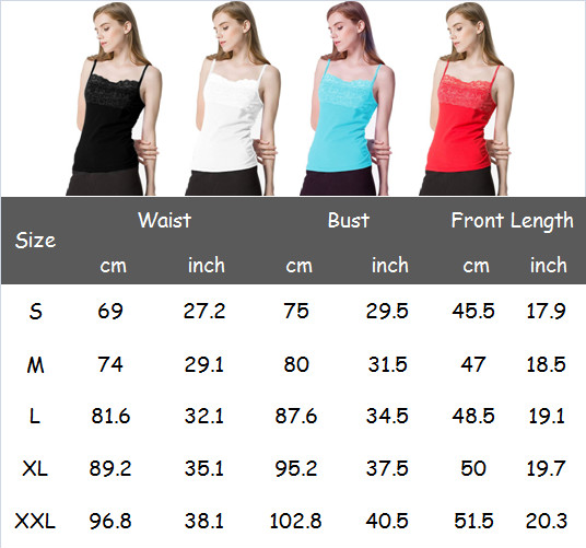 Summer Women Clothes Vest Tank Top Camis Sleeveless Solid Sexy Lace Strap Casual Tops T shirt Plus Size in Camis from Women 39 s Clothing