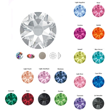 All Colors SS20 Xirius Hot Fix Rhinestone 2078 Cut Facets 8 Big 8 Small Motif Iron on Stones for Garment Clothes Decoration