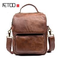 AETOO Men S Casual Men S Leather Messenger Bag First Layer Of Leather Shoulder Bag Messenger