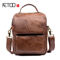 AETOO Men S Casual Men S Leather Messenger Bag First Layer Of Leather Shoulder Bag Messenger