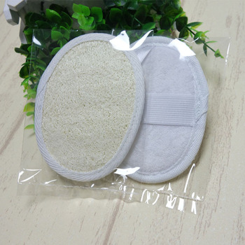 100pcs/lot 9 x 12 cm New Natural Loofah Bath Shower Sponge Body Scrubber Exfoliator Washing Pad bathroom Light weight Durable