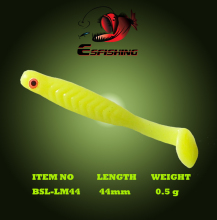 Esfishing Soft lure Swimbait Ice Fishing 12pcs 4.4cm/0.5g Lucky Minnow 1.7″ Fishing Bait Iscas Tackle White Yellow Pink VIB