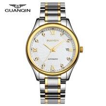 2016 Новый GUANQIN Автоматические Мужские Часы Коммерческий Мода Повседневная Мужской Водонепроницаемый Наручные Часы Relógio Masculino