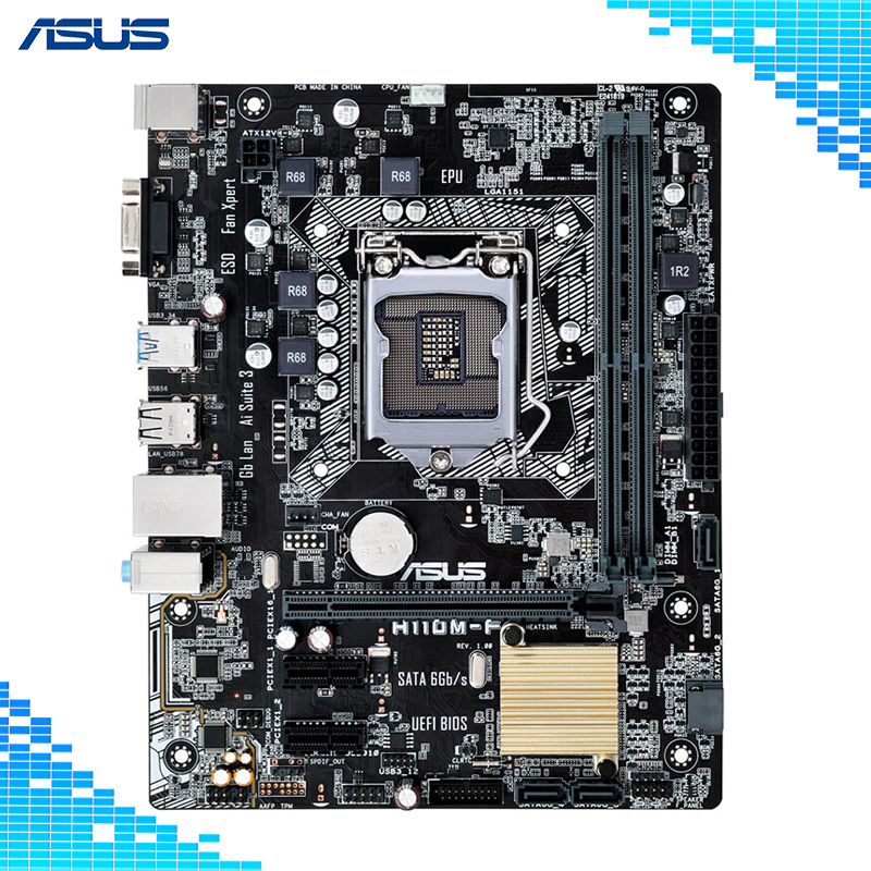 Asus H110M-F Desktop Motherboard Intel H110 Chipset Socket LGA1151 купить в Москве 2019