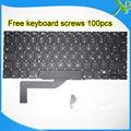 "Brand New German Deutsch QWERTZ Tastatur Keyboard+100pcs keyboard screws For MacBook Pro Retina 15.4"" A1398 2013-2015 Years"