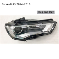 2PCS Car Styling for Audi A3 2014 2016 for A3 head lamp LED DRL Lens Double Beam H7 HID Xenon bi xenon lens headlight
