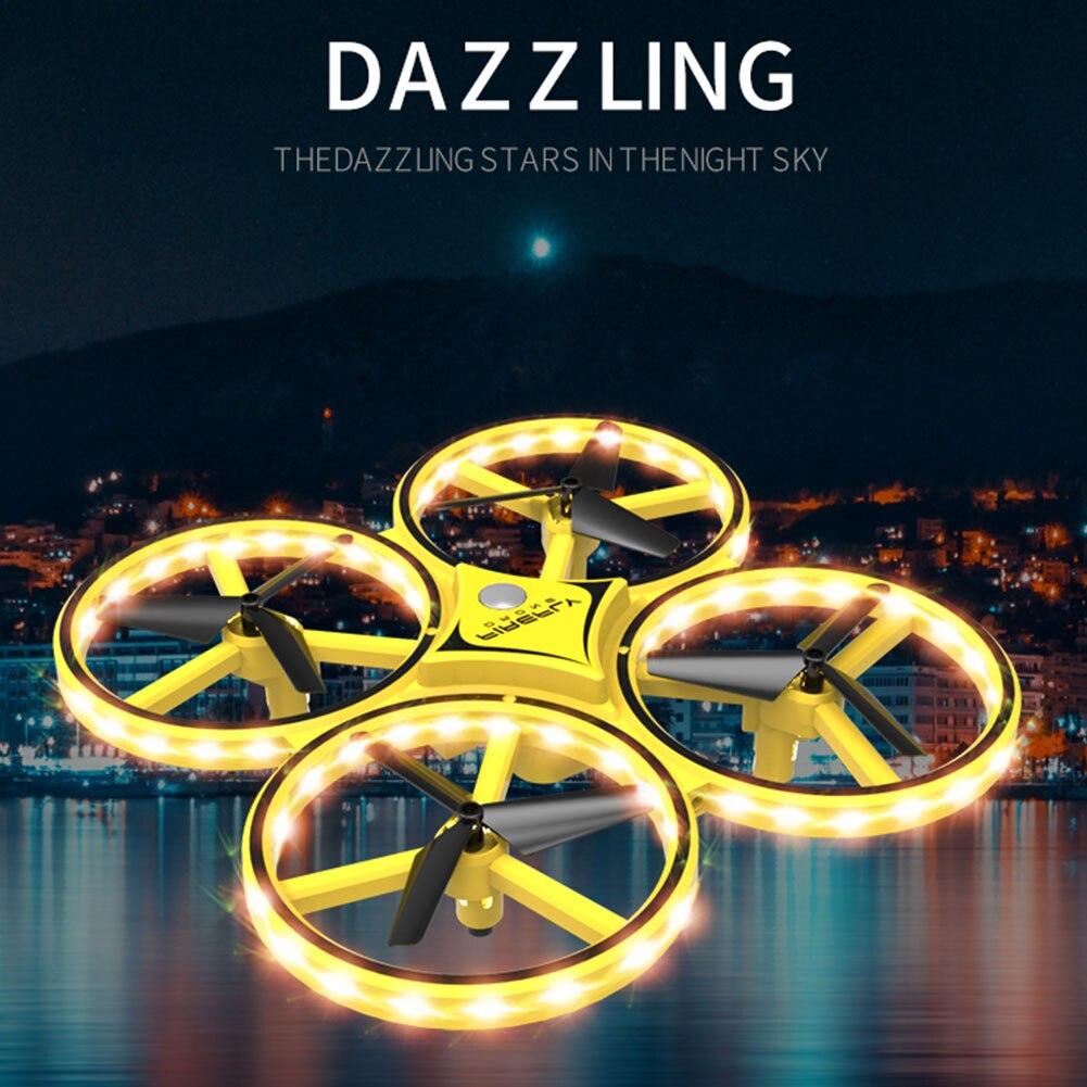 Image 4 - Los niños avión iluminación LED Quadcopter Drone gravedad Sentido de cuatro ejes reloj inteligente juguete de Control remoto gesto interactuarRelojes inteligentes   -