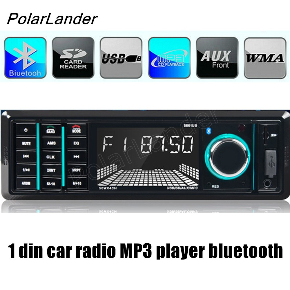 polarlander car radio 12v bluetooth car audio stereo 1 din. Black Bedroom Furniture Sets. Home Design Ideas