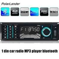 Polarlander Car Radio 12V Bluetooth Car Audio Stereo 1 Din FM Aux Input SD USB MP3