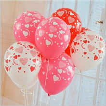 Wholesale wedding balloons marriage room decorate adornment balloons Full love balloons Print heart-shaped balloon valentine love heart balloons patterned door art stickers