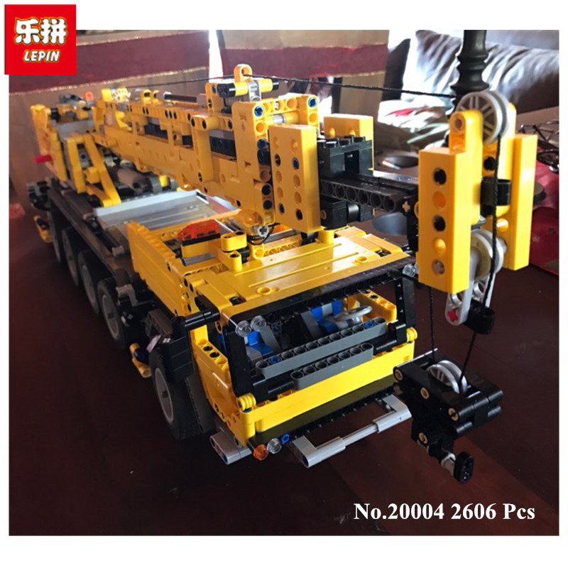 IN STOCK Free shipping 2606pcs LEPIN 20004 Motor power mobile crane MK Model Building blocks Bricks 42009 free shipping 10pcs ad9850brs in stock