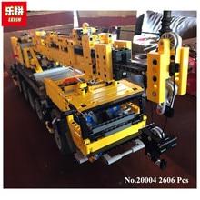В наличии Бесплатная доставка 2606 шт. Лепин 20004 Двигатель питания автокран МК модель строительные блоки кирпичи 42009