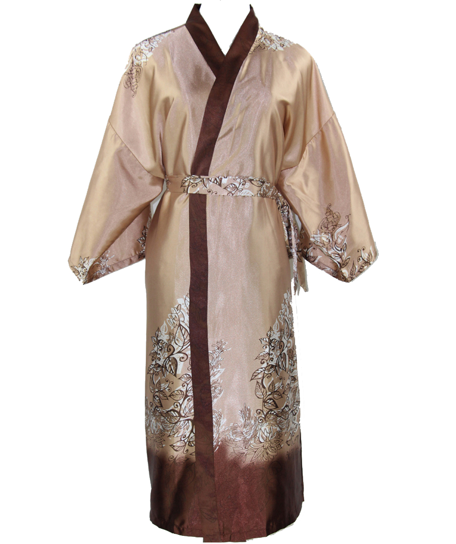 New Arrival Novelty Male Silk Long Robe Chinese Men Rayon Nightgown Kimono  Bath Gown Unisex Casual Sleepwear One Size NM025-in Robes from Underwear ... 29c2cd88f