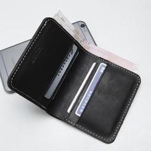 LANSPACE дизайнерский кожаный мужской кошелек ручной работы известный бренд кожаный кошелек