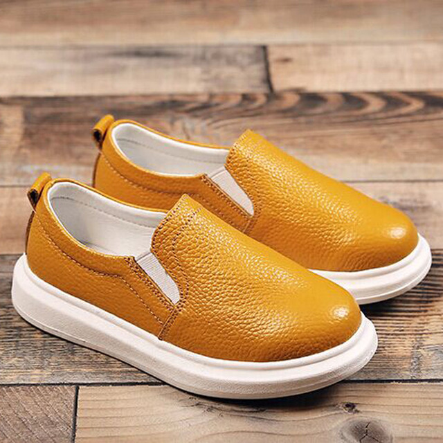f9d35e5c0ef 2017 Luxury Genuine Leather Children Loafers Elastic Closure Boys Leather  Shoes Slip on Child Boys Moccasins