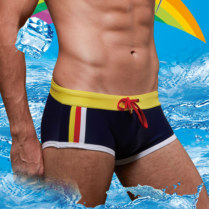 4e9f70599a men's swim boxer swimwear sexy swimming trunks gay men low rise for male  sunga arena Stripe Shorts Suit Swimsuit-in Men's Trunks from Sports &  Entertainment ...