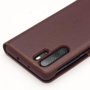Image 4 - اليدوية جلد طبيعي حافظة لهاتف Huawei P30 برو VOG L09 VOG L29 حالة محفظة حقيبة بفتحة لإخراج البطاقة فليب غطاء لهواوي P30Pro غطاء